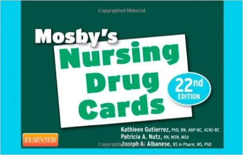 Mosby's Nursing Drug Cards, 22e 22nd Edition